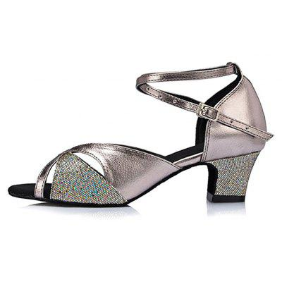 Ladies Sparkle Soft Cross Straps Latin Dance Chunky PumpsWomens Pumps<br>Ladies Sparkle Soft Cross Straps Latin Dance Chunky Pumps<br><br>Closure Type: Buckle Strap<br>Contents: 1 x Pair of Shoes<br>Function: Slip Resistant<br>Lining Material: Cotton Fabric<br>Materials: Glitter, Leather, PU, Fabric<br>Occasion: Tea Party, Shopping, Office, Holiday, Casual, Daily, Party, Dancing, Formal<br>Outsole Material: Leather<br>Package Size ( L x W x H ): 27.00 x 17.00 x 10.00 cm / 10.63 x 6.69 x 3.94 inches<br>Package weight: 0.5000 kg<br>Product weight: 0.4000 kg<br>Seasons: Spring,Summer<br>Style: Modern, Leisure, Formal, Fashion, Comfortable, Casual<br>Toe Shape: Open Toe<br>Type: Pumps<br>Upper Material: Glitter,PU