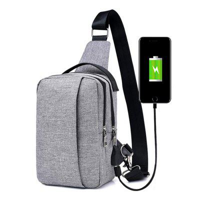 FT00348 Outdoor Multifunctional USB Sling Bag HangbagSling Bag<br>FT00348 Outdoor Multifunctional USB Sling Bag Hangbag<br><br>For: Camping, Casual, Cycling, Hiking<br>Gender: Unisex<br>Package Contents: 1 x Sling Bag<br>Package size (L x W x H): 27.00 x 18.00 x 8.00 cm / 10.63 x 7.09 x 3.15 inches<br>Package weight: 0.3400 kg<br>Product weight: 0.3000 kg