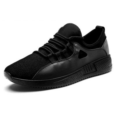 Men Stylish Soft Ventilate Lightweight Street SneakersMen's Sneakers<br>Men Stylish Soft Ventilate Lightweight Street Sneakers<br><br>Closure Type: Lace-Up<br>Contents: 1 x Pair of Shoes, 1 x Box<br>Decoration: Split Joint<br>Function: Slip Resistant<br>Materials: Rubber, Mesh<br>Occasion: Tea Party, Sports, Shopping, Running, Party, Outdoor Clothing, Basketball, Casual, Riding, Daily, Dancing, Holiday, Office<br>Outsole Material: Rubber<br>Package Size ( L x W x H ): 30.00 x 20.00 x 10.00 cm / 11.81 x 7.87 x 3.94 inches<br>Package weight: 0.7500 kg<br>Product weight: 0.7000 kg<br>Seasons: Autumn,Spring<br>Style: Modern, Leisure, Fashion, Comfortable, Casual<br>Toe Shape: Round Toe<br>Type: Sports Shoes<br>Upper Material: Mesh