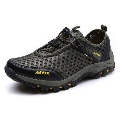 Male Outdoor Lightweight Anti-slip Running SneakersMen's Sneakers<br>Male Outdoor Lightweight Anti-slip Running Sneakers<br><br>Closure Type: Elastic band<br>Contents: 1 x Paier of Shoes, 1 x Box<br>Function: Slip Resistant<br>Materials: Rubber, Mesh<br>Occasion: Sports, Holiday, Riding, Running<br>Outsole Material: Rubber<br>Package Size ( L x W x H ): 30.00 x 20.00 x 10.00 cm / 11.81 x 7.87 x 3.94 inches<br>Package weight: 0.8000 kg<br>Pattern Type: Solid<br>Product weight: 0.7500 kg<br>Seasons: Autumn,Summer<br>Style: Leisure, Comfortable<br>Toe Shape: Round Toe<br>Type: Hiking Shoes<br>Upper Material: Mesh