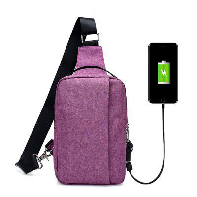 FT00348 Outdoor Multifunctional USB Sling Bag Hangbag