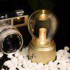 Rechargeable USB Toggle Switch Mini Bulb Night Lamp - GOLDEN