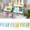 HESSION Multifunction Kitchen Suction Cup Storage Shelf - WHITE AND GREEN