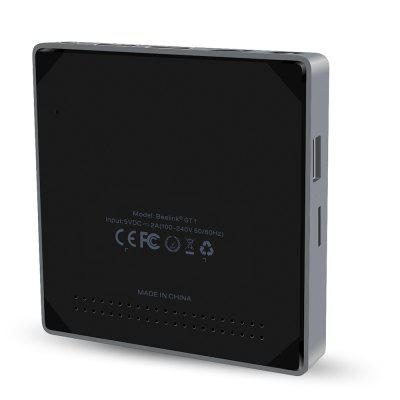 Beelink GT1 Android TV Box Octa Core Amlogic S912TV Box<br>Beelink GT1 Android TV Box Octa Core Amlogic S912<br><br>5G WiFi: No<br>Antenna: Yes<br>Audio format: OGG, AAC, FLAC, WMA, RM, MP3<br>Bluetooth: Bluetooth4.0<br>Brand: Beelink<br>Color: Black<br>Core: Octa Core, 2.0GHz<br>CPU: Amlogic S912<br>Decoder Format: RealVideo8/9/10, H.264/AVC, AVS, H.265<br>DVD Support: No<br>External Subtitle Supported: No<br>GPU: ARM Mali-T820MP3<br>HDMI Version: 2.0<br>Interface: RJ45, USB2.0, SPDIF, DC 5V, HDMI, Micro SD Card Slot<br>Language: Multi-language<br>Max. Extended Capacity: 32G<br>Maximum External Hard Drives Capacity: 500GB<br>Model: GT1<br>Other Functions: Others<br>Package Contents: 1 x Beelink GT1 TV Box, 1 x Infrared Remote Control, 1 x HDMI Cable, 1 x Power Adapter, 1 x English Manual<br>Package size (L x W x H): 13.90 x 17.30 x 5.40 cm / 5.47 x 6.81 x 2.13 inches<br>Package weight: 0.4700 kg<br>Photo Format: JPEG, JPG<br>Power Supply: Charge Adapter<br>Power Type: External Power Adapter Mode<br>Processor: Amlogic S912<br>Product size (L x W x H): 9.60 x 9.60 x 1.60 cm / 3.78 x 3.78 x 0.63 inches<br>Product weight: 0.1800 kg<br>RAM Type: DDR3<br>Support 5.1 Surround Sound Output: No<br>System: Android 7.1<br>System Bit: 64Bit<br>TV Box Features: Antenna<br>Type: TV Box<br>Video format: WMV, 1080P, 4K x 2K, AVI, VC-1, RM, MPEG-4, MPEG-1, MPEG, MP4, MKV, ISO, H.265, DAT, AVS, VP9-10 Profile-2<br>WIFI: 802.11 a/b/g/n/ac