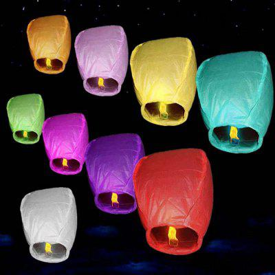 XM Special Occasions Colorful Sky Wish Paper Lanterns 10PCS