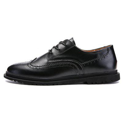 Gentleman Business Soft Well-matched Casual Dress ShoesFormal Shoes<br>Gentleman Business Soft Well-matched Casual Dress Shoes<br><br>Closure Type: Lace-Up<br>Contents: 1 x Pair of Shoes, 1 x Box<br>Function: Slip Resistant<br>Materials: Rubber, PU<br>Occasion: Casual, Formal, Office<br>Outsole Material: Rubber<br>Package Size ( L x W x H ): 30.00 x 20.00 x 10.00 cm / 11.81 x 7.87 x 3.94 inches<br>Package weight: 0.7500 kg<br>Pattern Type: Solid<br>Product weight: 0.7000 kg<br>Seasons: Autumn,Spring<br>Style: Modern, Formal, Fashion, Comfortable, Casual, Business<br>Toe Shape: Round Toe<br>Type: Casual Leather Shoes<br>Upper Material: PU