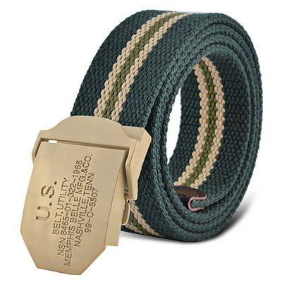 Men Alloy Buckle Military Style Canvas Belt