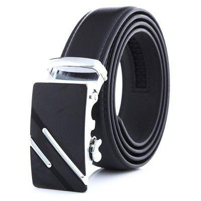 Men Leisure Leather Trouser Belt with Automatic Buckle