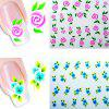 Environmental Resin Manicure Nail Sticker Decals 20pcs - COLORMIX
