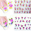Environmental Resin Roses Manicure Nail Sticker 20pcs - COLORMIX