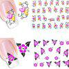 Environmental Flowers Resin Manicure Nail Sticker 20pcs - COLORMIX