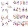 Dream Catcher Design Nail Sticker Labels 12pcs - COLORES MEZCLADOS