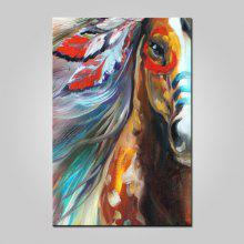 Mintura Canvas Oil Painting Horse Hanging Wall Art