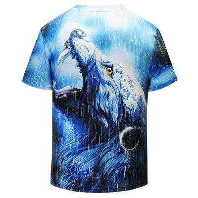 Men 3D Wolf Print Leisure Round Neck Short Sleeve T-shirtMens Short Sleeve Tees<br>Men 3D Wolf Print Leisure Round Neck Short Sleeve T-shirt<br><br>Material: Polyester, Spandex<br>Neckline: Round Neck<br>Package Content: 1 x T-shirt<br>Package size: 38.00 x 30.00 x 1.00 cm / 14.96 x 11.81 x 0.39 inches<br>Package weight: 0.2500 kg<br>Product weight: 0.2300 kg<br>Season: Summer<br>Sleeve Length: Short Sleeves<br>Style: Fashion, Casual