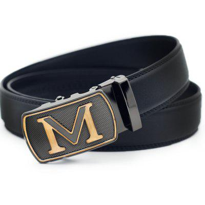 Men Business Alloy Buckle Leather Trouser Belt