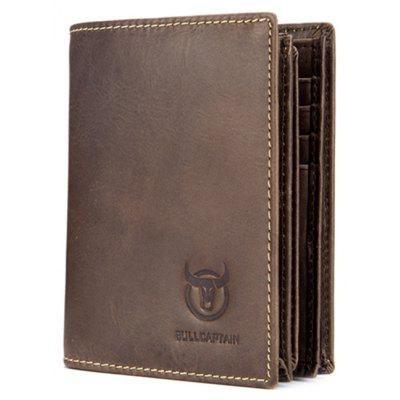 BULLCAPTAIN Men Minimalist Leather Bifold WalletWallets<br>BULLCAPTAIN Men Minimalist Leather Bifold Wallet<br><br>Brand: BULLCAPTAIN<br>Features: Wearable<br>For: Daily Use, Outdoor, Shopping<br>Gender: Men<br>Material: Leather<br>Package Size(L x W x H): 10.50 x 4.50 x 13.50 cm / 4.13 x 1.77 x 5.31 inches<br>Package weight: 0.1700 kg<br>Packing List: 1 x Wallet<br>Product Size(L x W x H): 9.50 x 2.50 x 12.00 cm / 3.74 x 0.98 x 4.72 inches<br>Product weight: 0.1500 kg<br>Style: Casual, Business<br>Type: Wallet
