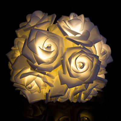 XM Decorative 20-LED Rose Style String LightsDecorative Lights<br>XM Decorative 20-LED Rose Style String Lights<br><br>Brand: XM<br>Package Contents: 1 x String Light<br>Package size (L x W x H): 20.00 x 10.00 x 5.00 cm / 7.87 x 3.94 x 1.97 inches<br>Package weight: 0.0600 kg<br>Power Supply: Battery<br>Product weight: 0.0570 kg