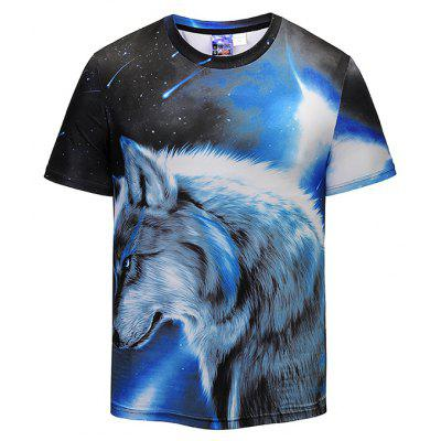 Mr 1991 INC Miss Go T-shirt with Wolf Motifs
