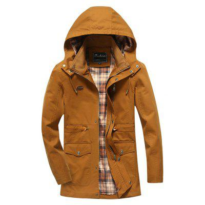 CTSmart Cool Solid Color Hooded Jacket