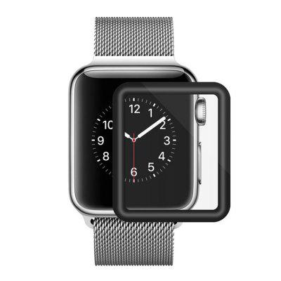 Cristal templado para Apple Watch 42mm Series 3D cubierta completa Curved Black Edge Protector de pantalla