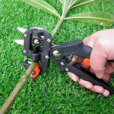 Professional Bonsai Tree Fruit Grafting Tools Scissors Vaccination Cutting Pruner Secateurs Garden with 2 Blades