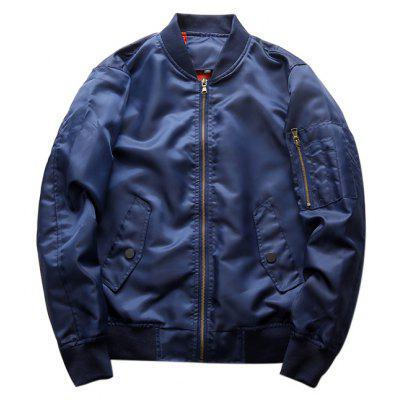 CTSmart Men Cool Solid Color Jacket