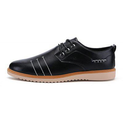 Men British Business Casual Soft Lightweight Oxford ShoesMen's Oxford<br>Men British Business Casual Soft Lightweight Oxford Shoes<br><br>Closure Type: Lace-Up<br>Contents: 1 x Pair of Shoes, 1 x Box<br>Function: Slip Resistant<br>Materials: Rubber, Microfiber Leather<br>Occasion: Tea Party, Shopping, Office, Holiday, Formal, Party, Casual, Daily, Dress<br>Outsole Material: Rubber<br>Package Size ( L x W x H ): 30.00 x 20.00 x 10.00 cm / 11.81 x 7.87 x 3.94 inches<br>Package weight: 0.7000 kg<br>Pattern Type: Solid<br>Product weight: 0.6500 kg<br>Seasons: Autumn,Spring<br>Style: Modern, Leisure, Formal, Fashion, Comfortable, Casual, Business<br>Toe Shape: Round Toe<br>Type: Casual Leather Shoes<br>Upper Material: Microfiber Leather