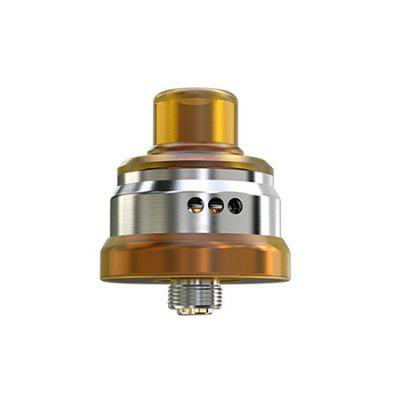 WISMEC Tobhino BF RDA for E CigaretteRebuildable Atomizers<br>WISMEC Tobhino BF RDA for E Cigarette<br><br>Brand: Wismec<br>Material: Stainless Steel<br>Package Contents: 1 x Tobhino BF RDA, 2 x Clapton Coil, 1 x Cotton, 1 x 810 Top Cap, 1 x English User Manual<br>Package size (L x W x H): 8.00 x 6.00 x 4.00 cm / 3.15 x 2.36 x 1.57 inches<br>Package weight: 0.0860 kg<br>Product size (L x W x H): 2.87 x 2.20 x 2.20 cm / 1.13 x 0.87 x 0.87 inches<br>Product weight: 0.0200 kg<br>Rebuildable Atomizer: RDA<br>Thread: 510<br>Type: Rebuildable Atomizer