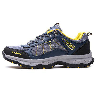 Men Outdoor Soft Lightweight Hiking Athletic ShoesAthletic Shoes<br>Men Outdoor Soft Lightweight Hiking Athletic Shoes<br><br>Closure Type: Lace-Up<br>Contents: 1 x Pair of Shoes, 1 x Box<br>Decoration: Split Joint<br>Function: Slip Resistant<br>Materials: Mesh, Microfiber Leather, Rubber<br>Occasion: Sports, Shopping, Running, Riding, Outdoor Clothing, Casual, Daily, Holiday<br>Outsole Material: Rubber<br>Package Size ( L x W x H ): 30.00 x 20.00 x 10.00 cm / 11.81 x 7.87 x 3.94 inches<br>Package weight: 0.8000 kg<br>Product weight: 0.7500 kg<br>Seasons: Autumn,Spring<br>Style: Modern, Leisure, Fashion, Comfortable, Casual<br>Toe Shape: Round Toe<br>Type: Sports Shoes<br>Upper Material: Mesh,Microfiber Leather