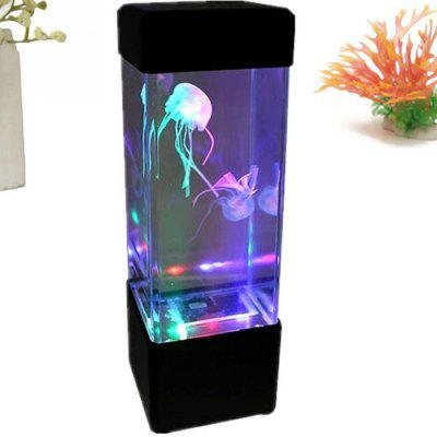 LED Mini Desktop Jellyfish Lamp with Color Changing EffectsDecorative Lights<br>LED Mini Desktop Jellyfish Lamp with Color Changing Effects<br><br>Features: Gift<br>For: Bar, Cafe, Home, Hotel, Office<br>Material: Acrylic<br>Package Contents: 1 x Jellyfish Lamp<br>Package size (L x W x H): 8.00 x 8.00 x 25.00 cm / 3.15 x 3.15 x 9.84 inches<br>Package weight: 0.3600 kg<br>Power (W): 5W<br>Power Supply: Battery<br>Product size (L x W x H): 7.00 x 7.00 x 23.50 cm / 2.76 x 2.76 x 9.25 inches<br>Product weight: 0.3000 kg