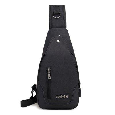 Outdoor USB Port Sling Bag Multifunctional Chest Pocket