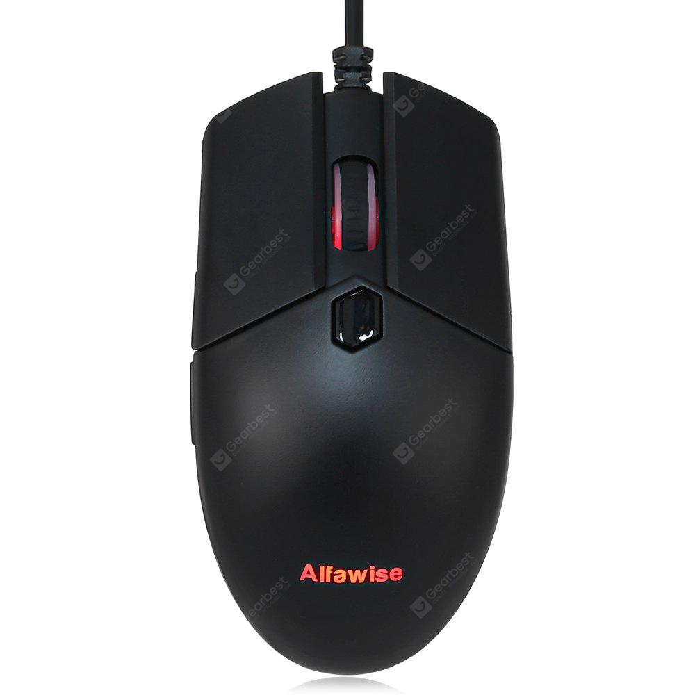 Alfawise V10 A3050 USB Wired Gaming Mouse - BLACK в магазине GearBest