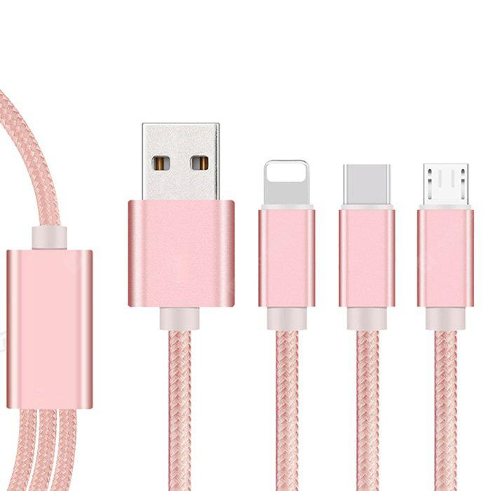 3 in 1 Charging Data Sync Strong Magnetic Micro Usb Data Cable for Android 8 Pin Type-C Devices
