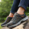 Men Outdoor Soft Lightweight Hiking Athletic Shoes - BLACK AND GRAY