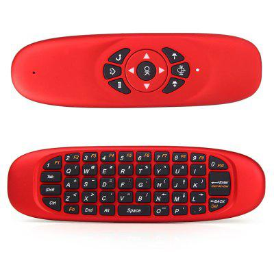 C120 2.4GHz Wireless QWERTY Keyboard + Air Mouse + Remote Control para Windows / Mac OS / Linux / Android