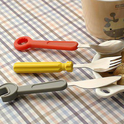 Creative Screwdriver Wrench Cutlery Set with Silicone Handles