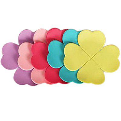 Macroart Four Leaf Clover Silicone Cup Mat Non-slip Pad 10pcs