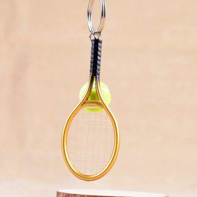 Mini Tennis Racket Creative Cartoon Key Chain