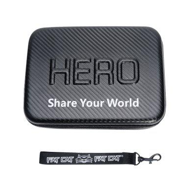 Fat Cat 9 inch Waterproof Carbon Fiber EVA Storage Box Case