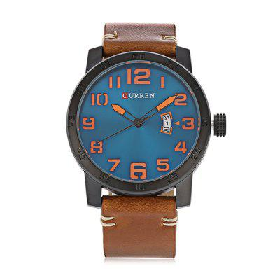 Buy Curren 8254 Male Quartz Watch, BLACK AND ORANGE, MALE, Watches & Jewelry, Men's Watches for $20.60 in GearBest store