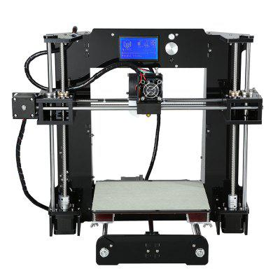 Anet A6 3D Desktop Printer Kit3D Printers, 3D Printer Kits<br>Anet A6 3D Desktop Printer Kit<br><br>Brand: Anet, Anet<br>Certificate: CE,FCC,RoHs<br>File format: G-code, STL<br>Frame material: Acrylic plate<br>Host computer software: Cura<br>Language: Chinese,English,French,German,Spanish<br>Layer thickness: 0.1-0.4mm<br>LCD Screen: Yes<br>Material diameter: 1.75mm<br>Memory card offline print: TF card<br>Model: A6<br>Model supporting function: Yes<br>Nozzle diameter: 0.4mm<br>Nozzle quantity: Single<br>Nozzle temperature: Room temperature to 260 degree<br>Package size: 45.00 x 44.60 x 21.50 cm / 17.72 x 17.56 x 8.46 inches<br>Package weight: 10.5000 kg<br>Packing Contents: 1 x Anet A6 3D Desktop Printer Kit, 1 x 0.5kg PLA Supply<br>Packing Type: unassembled packing<br>Print speed: 40 - 120mm/s<br>Product forming size: 220 x 220 x 250mm<br>Product size: 48.00 x 40.00 x 40.00 cm / 18.9 x 15.75 x 15.75 inches<br>Product weight: 10.0000 kg<br>Supporting material: HIPS, PLA, ABS<br>Type: Complete Machine<br>Voltage: 110V/220V<br>Working Power: 150W<br>XY-axis positioning accuracy: 0.012mm<br>Z-axis positioning accuracy: 0.004mm