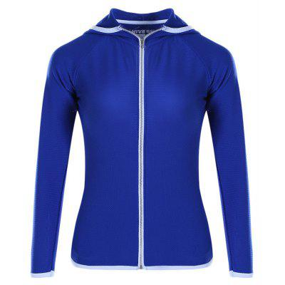 Women Slim Yoga Long Sleeve Coat with Zipper