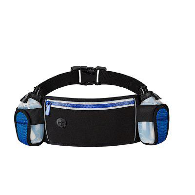 Water-resistant Sports Waist Bag Belt with Two Water Bottles
