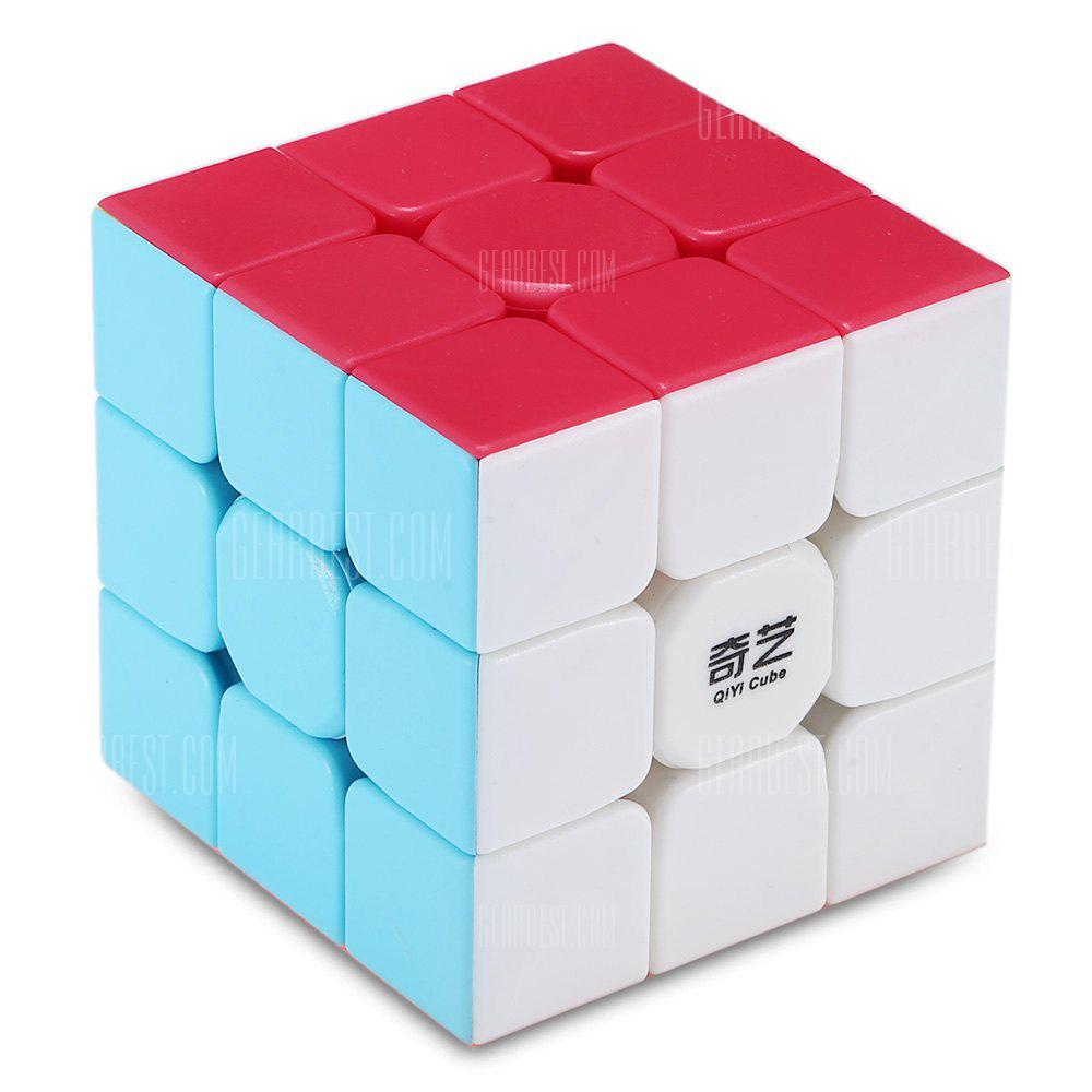 Finger Toy - ЦВЕТНЫЙ QiYi Warrior W 3 x 3 x 3 Speed ​​Magic Cube Puzzle