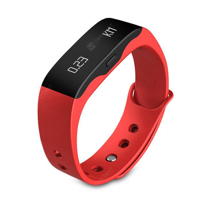 RED SKMEI L28T Real-time Sports Track Smart Wristband