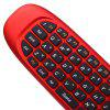 C120 2,4GHz QWERTY Clavier Sans Fil + Souris d'Air + Télécommande pour Windows / Mac OS / Linux / Android - ROUGE