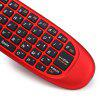 C120 All-in-one 2,4GHz 3D Manico Somatico Wireless Air Mouse + QWERTY Tastiera + Telecomando per Windows / Mac OS / Linux / Android - ROSSO