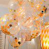 XM Party Decorative Golden Sequins Latex Balloon 5pcs - GOLDEN