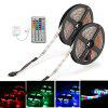 ZDM DC12V 2835 300LEDs Waterproof RGB Strips with IR44 Key Double Outlet Controller 2PCS - RGB