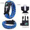 5 Functions in 1 Outdoor Survival Paracord Bracelet - BLUE